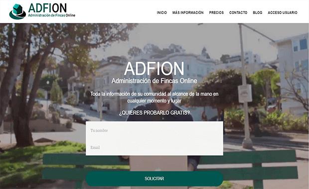 Diseño página web adfion.com