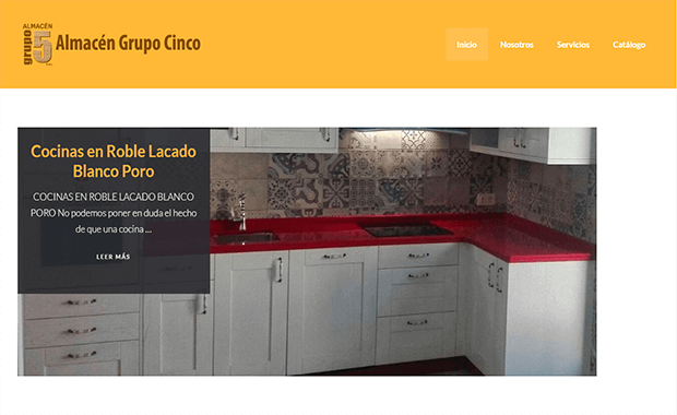 Diseño página web almacengrupocinco