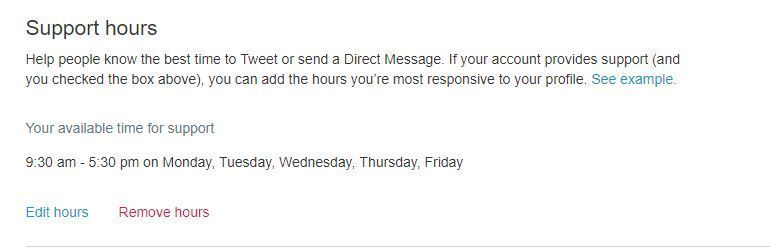 Horario - Horario de atención cliente en twitter
