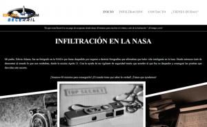 Diseño página web de sala de Escape Room Becerril