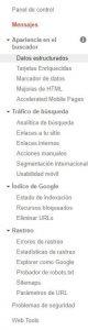 Qué es Google Search Console - Menú extendido