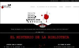 Diseño página web de sala de Escape Room Ampudia