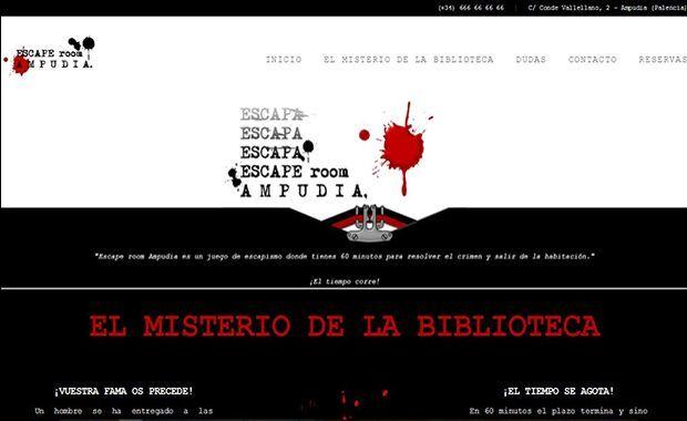 Diseño página web escaperoomampudia