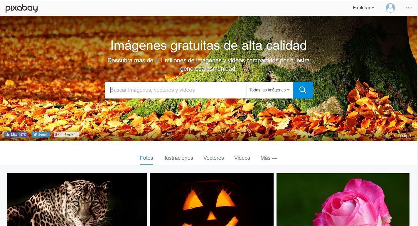 Los 7 mejores sitios para descargar imágenes gratis para tu web, blog o redes sociales