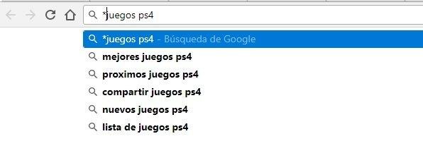 sugerencias de google para palabras clave