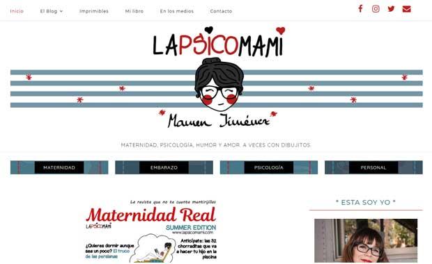 Cabecera de la web LaPsicomami