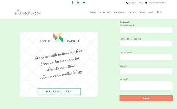 millinguals. Academia de idiomas online