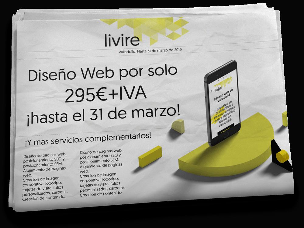 promoción marzo para diseño de página web