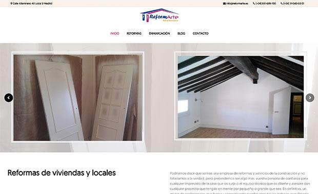 reformarte, diseño web