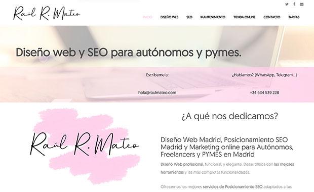 Diseño web: raulmateo.com