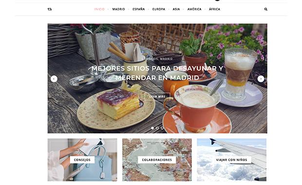 Diseño web y migración: El mundo a mis pies - blog de viajes
