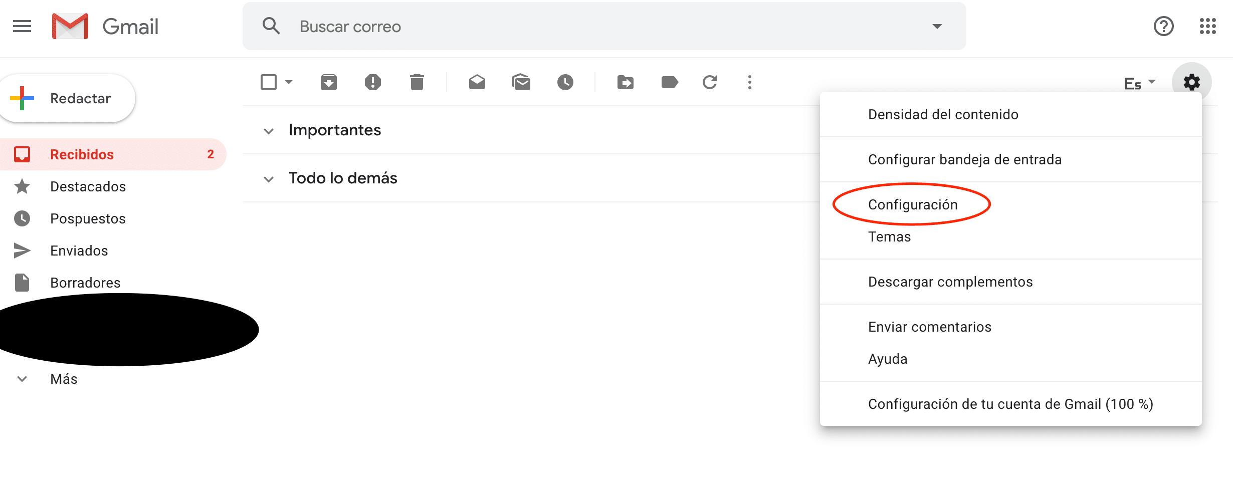 Configurar email corporativo - 1 configuración