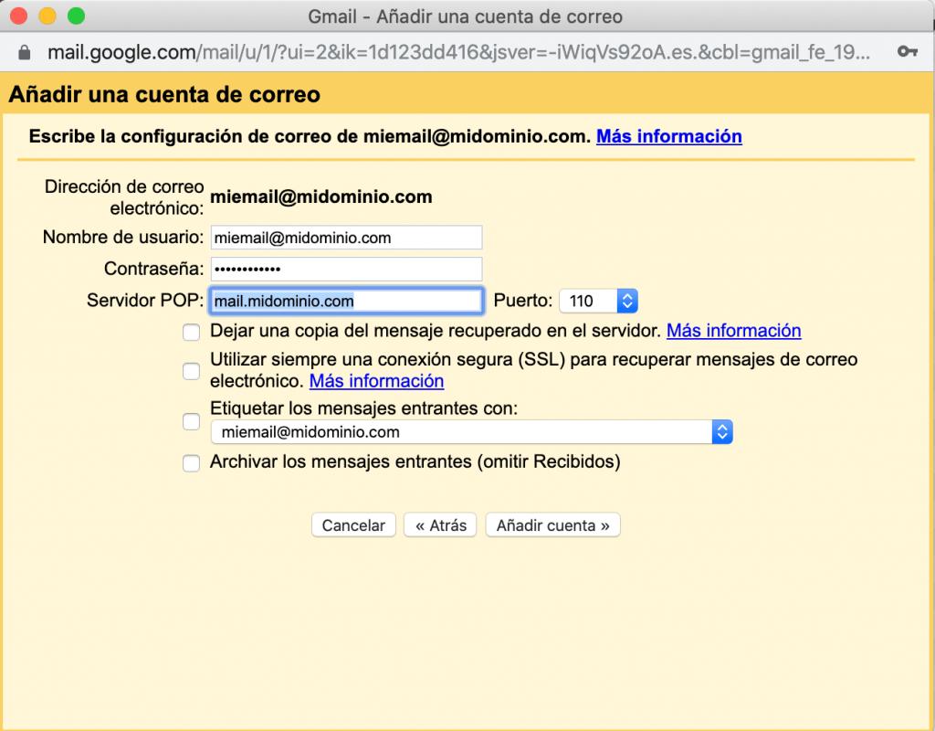 Configurar email corporativo - 3 configurar email