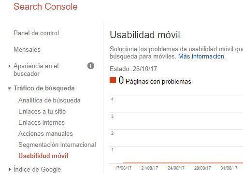 Qué es Google Search Console - Usabilidad móvil