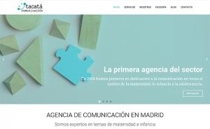 Diseño y desarrollo de la página web Tacatá Comunicación