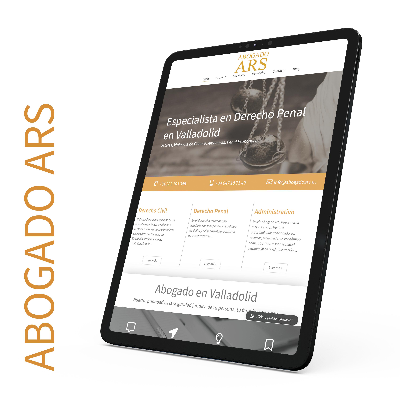 Desarrollo y optimización web Abogado ARS
