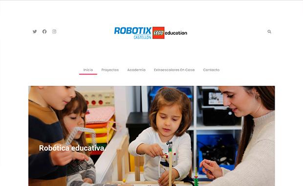 Diseño y desarrollo de la web Robotixcastellon.com