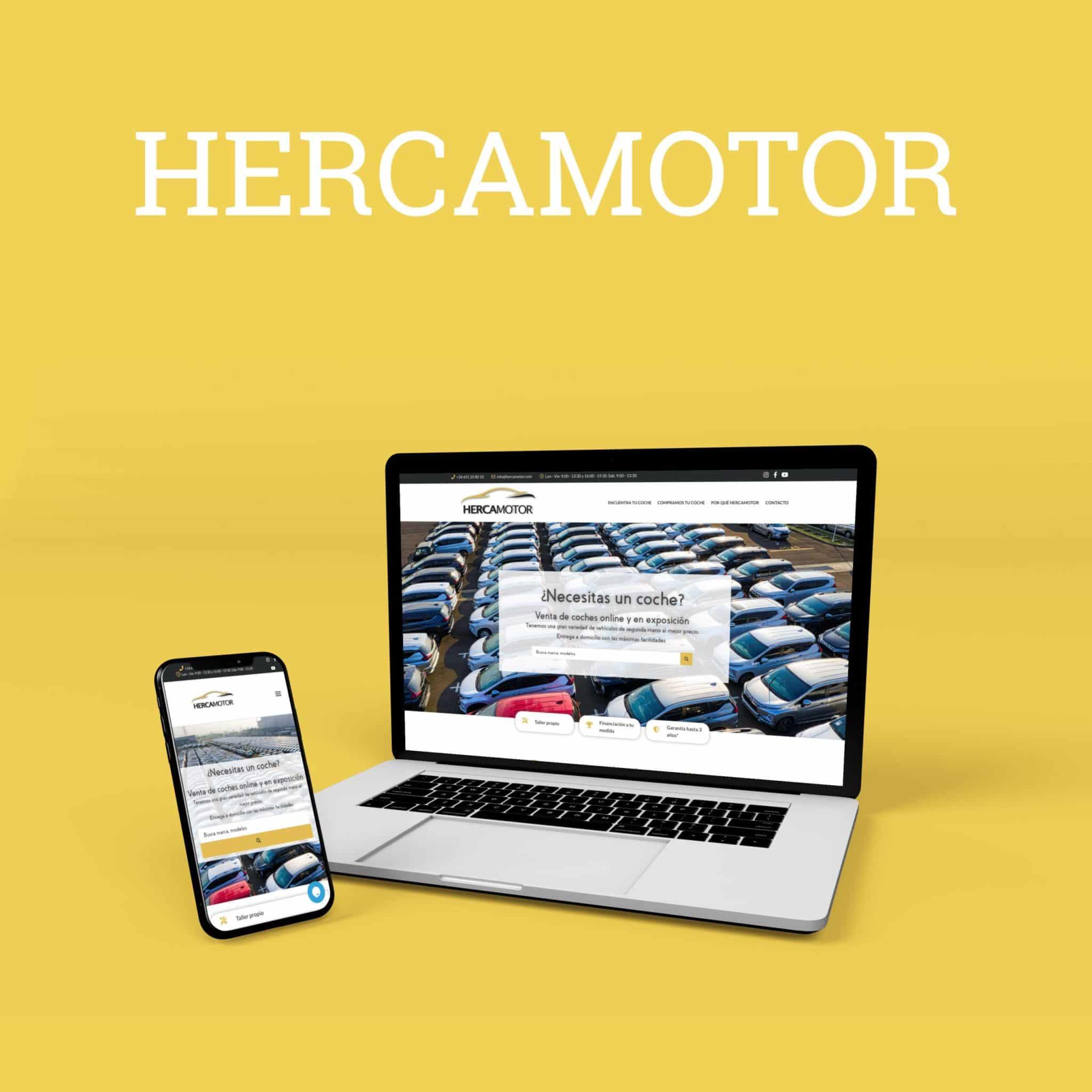 Diseño y desarrollo web hercamotor.com